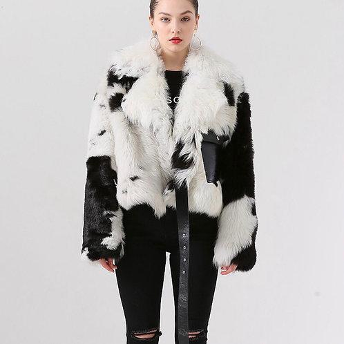 Chaquetón corto de lana