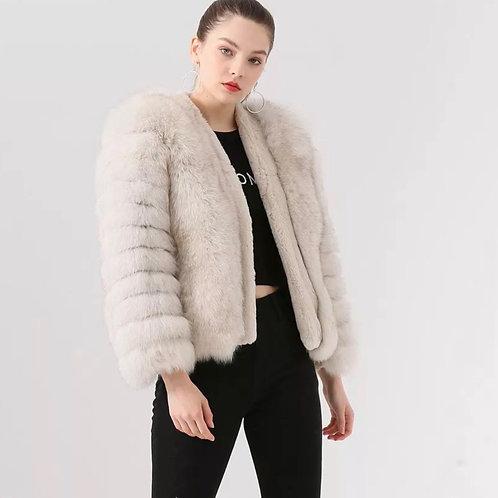Abrigo corto zorro: 2 colores disponibles