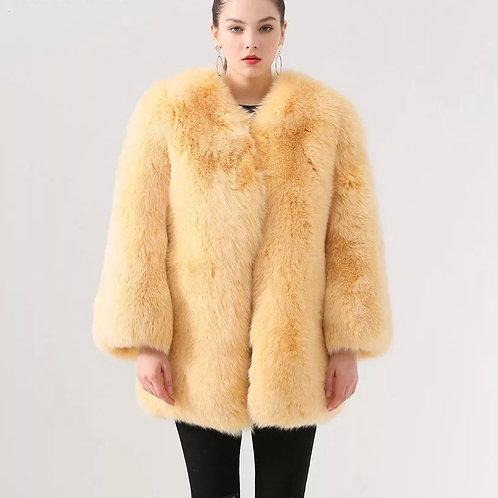 Abrigo de zorro continuo: Amarillo