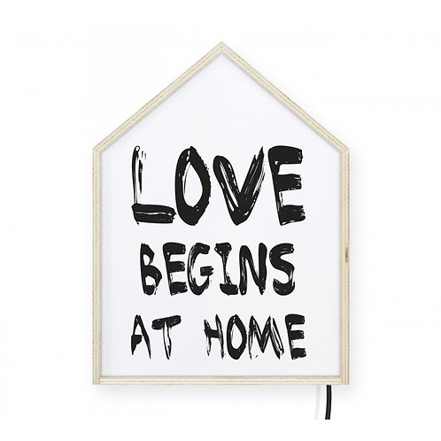 LightBoxHome Love Begins 40x30