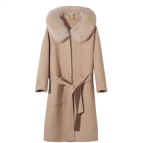 Abrigo largo Cachemir y zorro: 3 colores