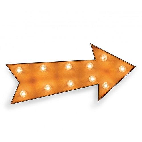 Flecha con bombillas