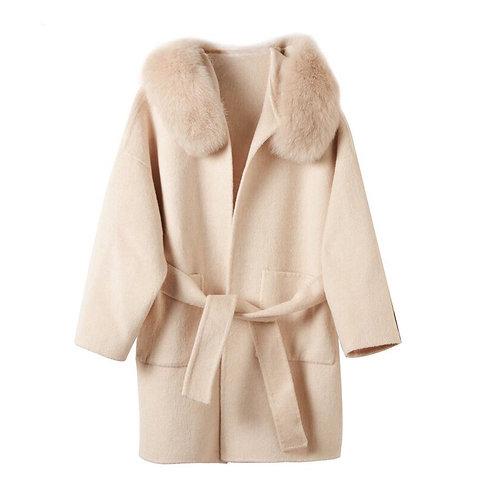 Abrigo corto Cachemir y zorro: 5 colores