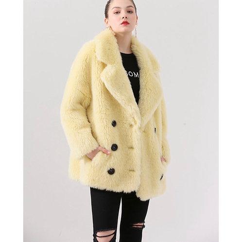 Chaqueton tres cuartos de lana: Amarillo