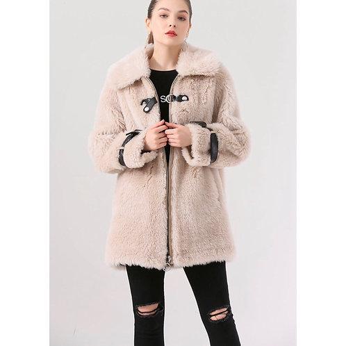 Chaqueton tres cuartos de lana: Beige