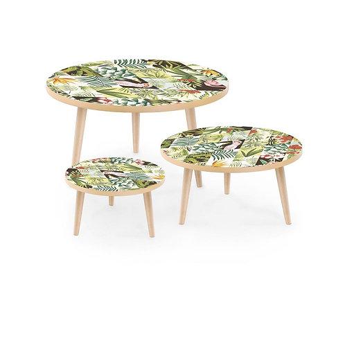 Set Mesas Estampadas Tropical