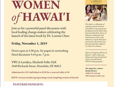 Inspiring Women of Hawai'i Panel Discussion - Friday, November 1