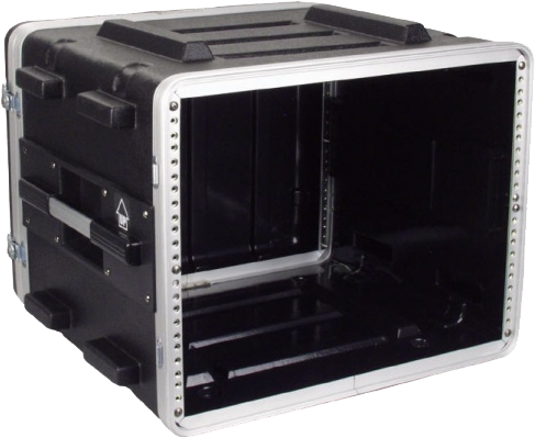AM-ABS-8U - Rack con manija y ruedas