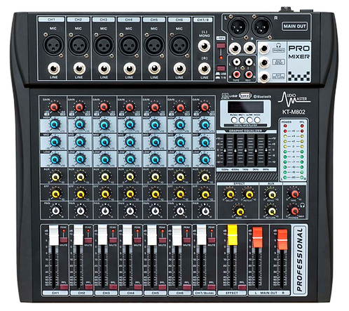 AM-KT-M802 - Consola Mezcladora