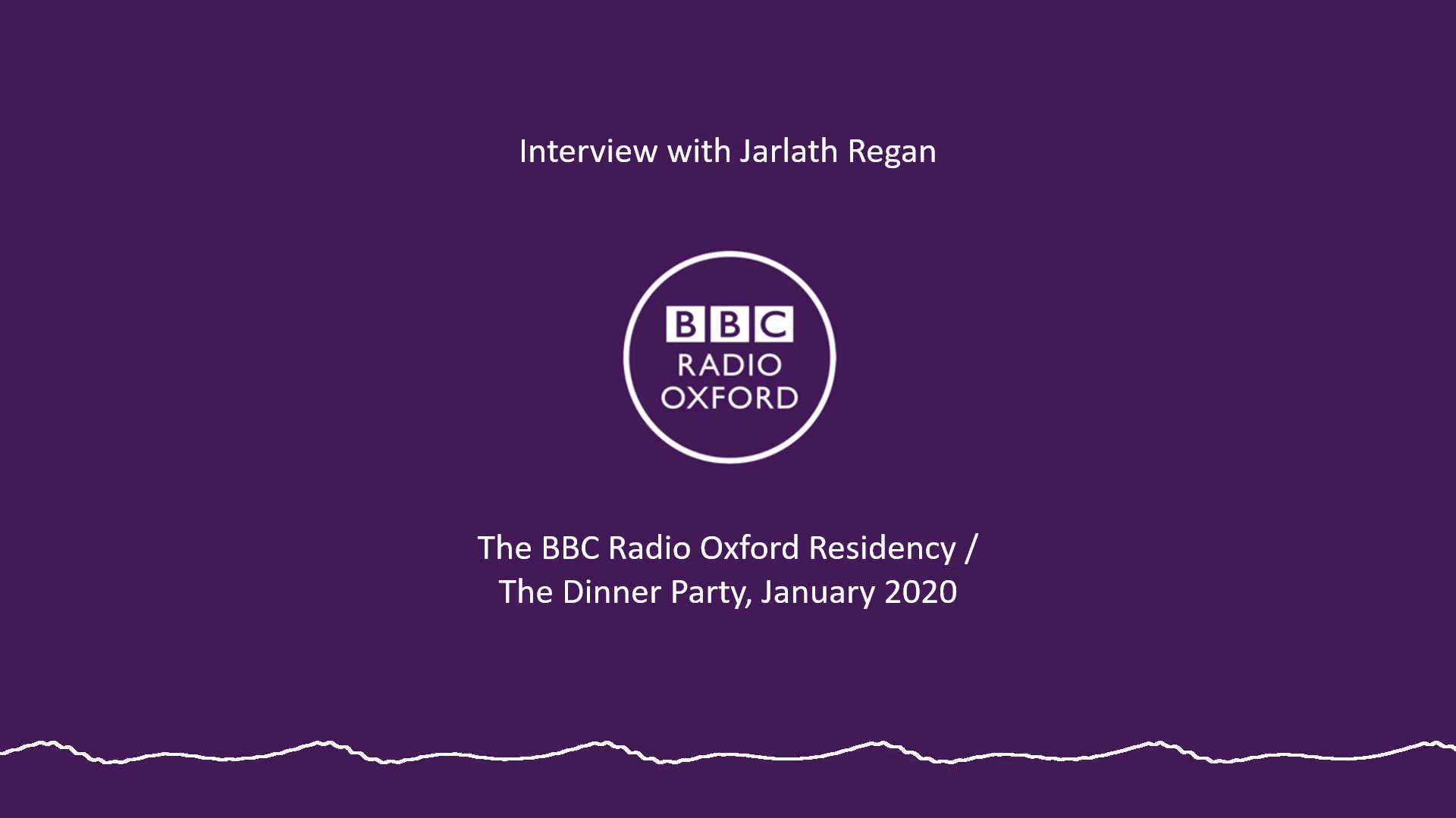 Interview with Jarlath Regan