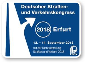 Deutscher Straßen- und Verkehrskongress 2018 in Erfurt