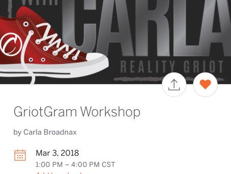 GriotGram Workshop