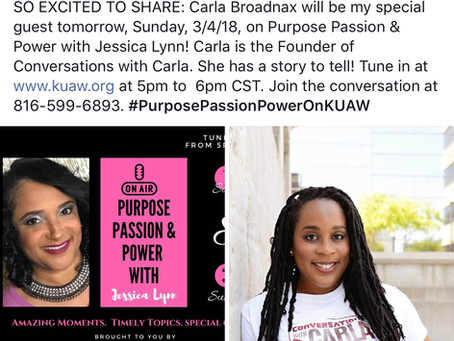 Conversations With Carla, second radio interview of the year. Tune in tonight!