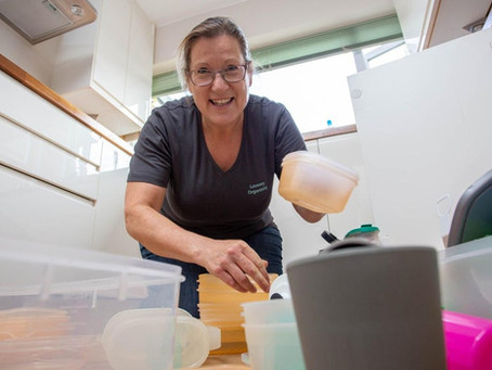 Carol from Emsworth sets up Lovesey Organising to help people declutter, tidy up and find happiness