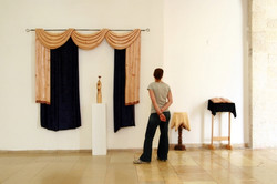 Wooden curtain