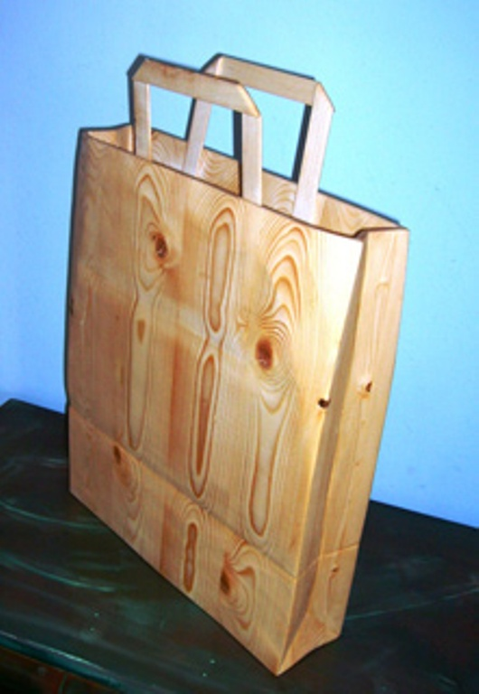 Wooden shopping bag