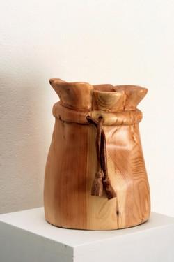 שקית בד מעץ