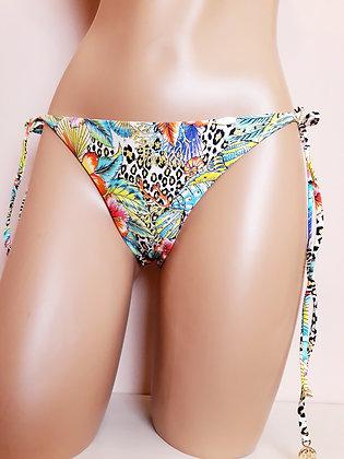 Slip noeud bikini Print