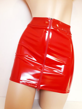 Livinia jupe vinyle rouge