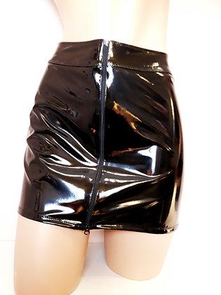 Livinia jupe vinyle noir