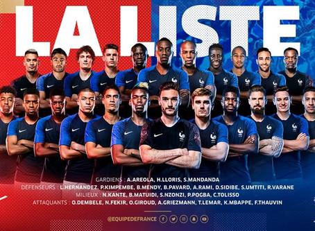 La liste des 23 Bleus pour la Coupe du monde dévoilée.