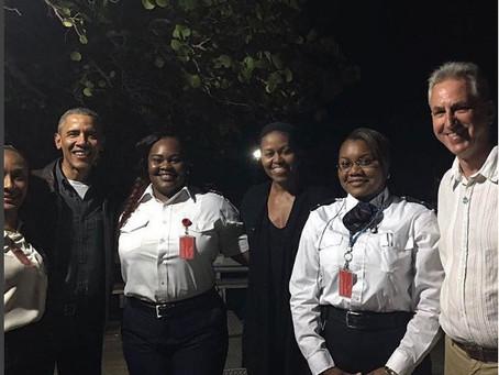 Les Obamas aux Îles Vierges Britanniques