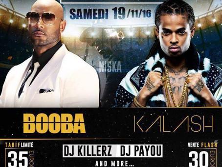 Kalash et Booba en concert au Stade de Dillon à Fort-de-France
