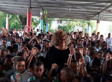 Jocelyne Beroard donne son nom à une école à la Martinique.