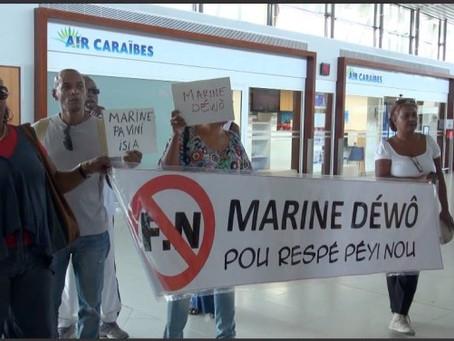 DEMAIN GRANDE MANIFESTATION CONTRE L'ARRIVEE DE MARINE LEPEN AUX ANTILLES !