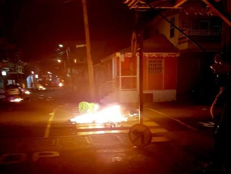 Nuit d'émeute et de violence à la Dominique