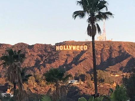 "le panneau ""Hollywood"" devient Holllyweed"