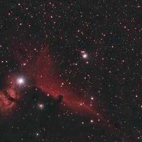 Nebulosas da Cabeça de Cavalo e da Chama