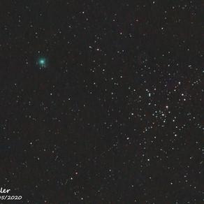 Cometa c/2019 U6 Lemmon, passando ao lado do aglomerado aberto M41 em Cão Maior