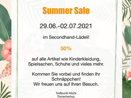 Summer Sale im Second Hand Lädeli