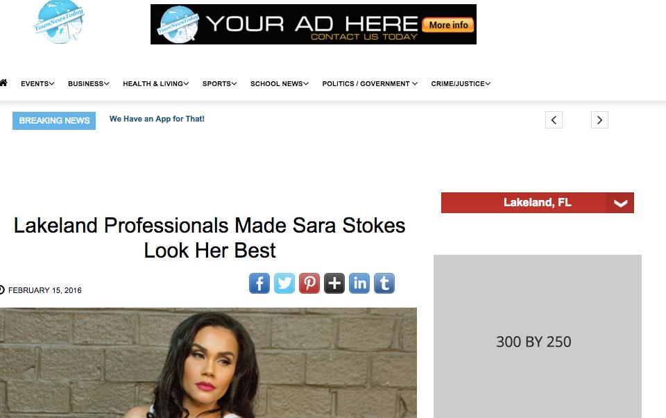 Heir PR x Sara Stokes Town News Today Press Credits