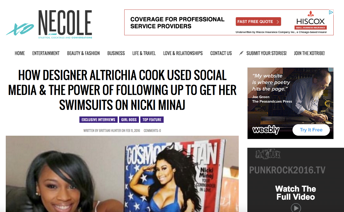 Heir PR x Allusions by Alekay xoNecole Press Credits