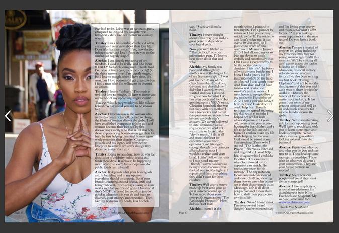 Heir PR x Alechia Reese Bold Favor Magazine Press Credits2