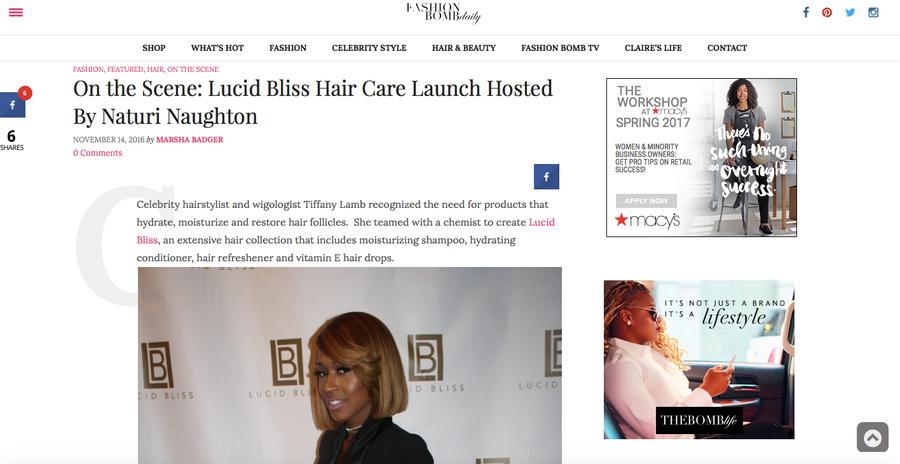 Heir PR x Lucid Bliss FashionBomb Daily Press Credits