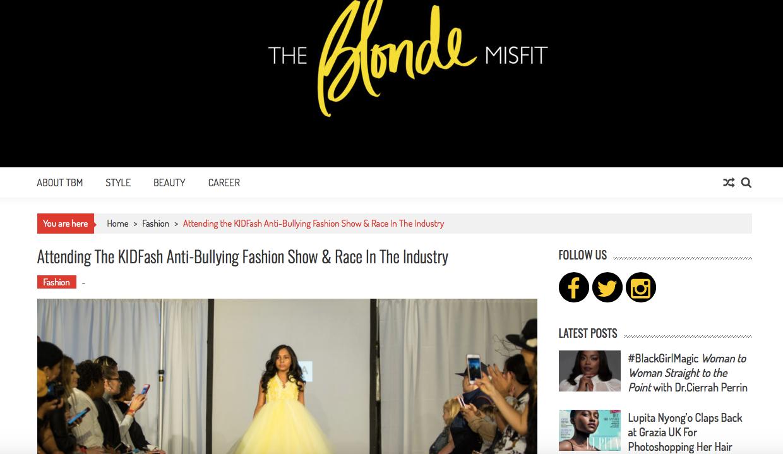 Heir PR x KidFash Magazine The Blonde Misfit Press Credits
