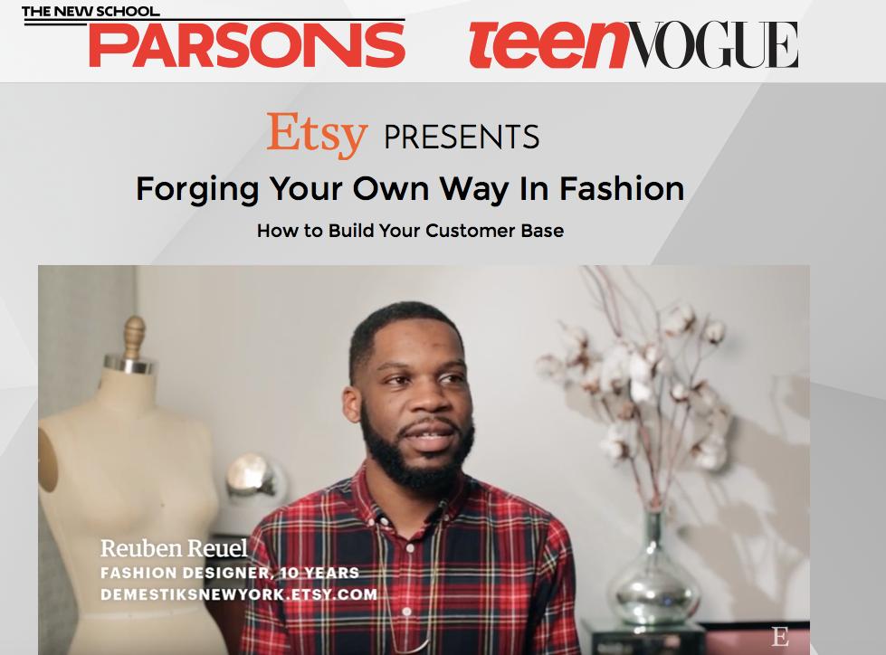 Heir PR x Demestik Parsons Teen Vogue Press Credits
