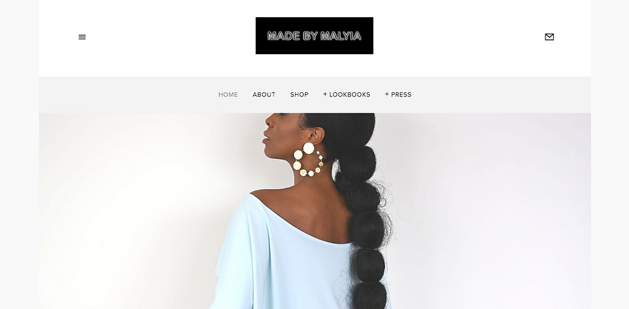 Heir PR x Made by Malyia Website Design Homepage Snapshot
