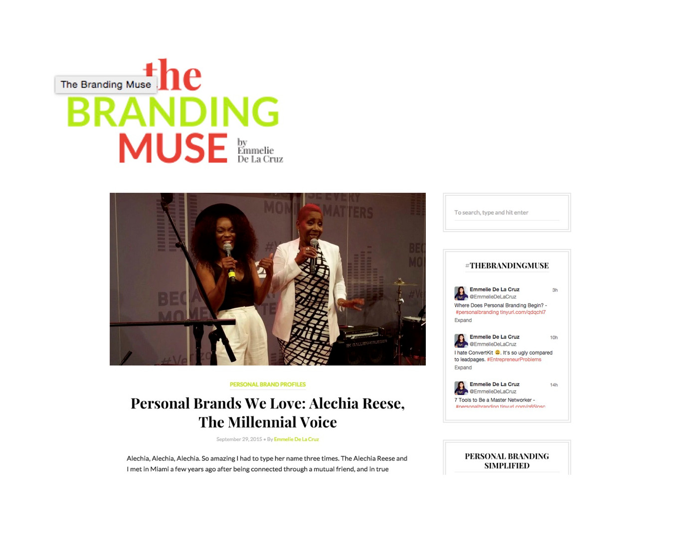 Heir PR x Alechia Reese The Branding Muse Press Credits