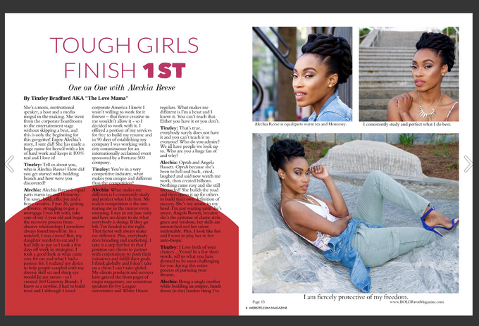 Heir PR x Alechia Reese Bold Favor Magazine Press Credits