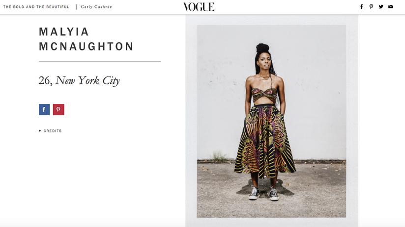 Heir PR x Malyia McNaughton Vogue Press Credits
