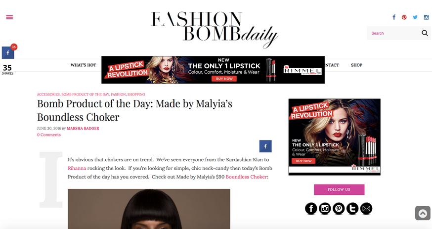 Heir PR x Made by Malyia FashionBomb Daily Press Credits