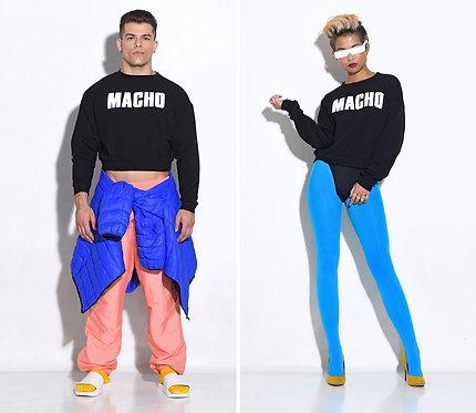 MACHO CROP SWEATSHIRT