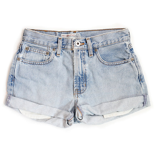 Vintage Abercrombie & Fitch Light Wash Mid-High Rise Shorts - 24/25