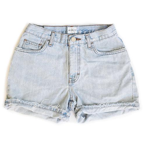 Vintage Calvin Klein Light Wash Mid-High Rise Denim Cuffed Shorts - 23/24
