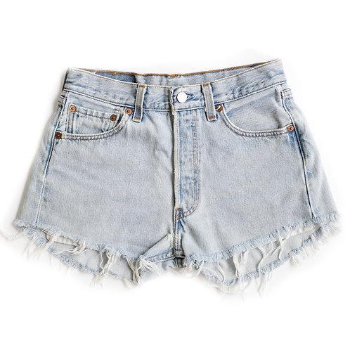 Vintage Levi's 501 Button Fly High Rise Denim Cut Off Shorts - 26