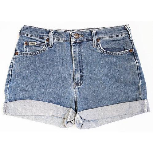 Vintage Lee Medium Wash Mid Rise Denim Shorts -  27/28